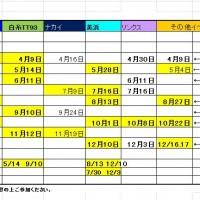 2017年レーシングサービス日程「暫定)